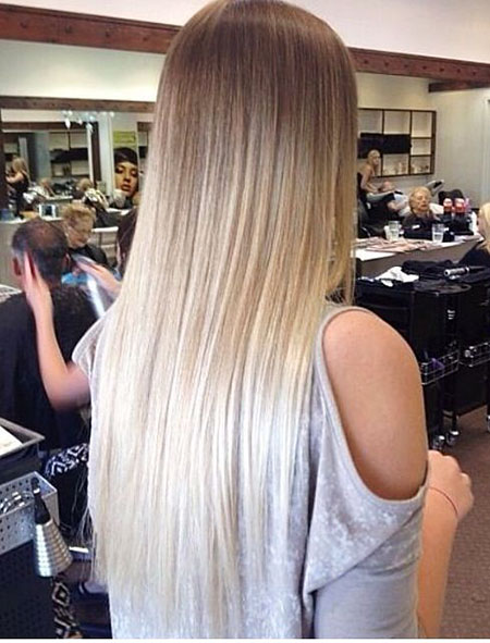 Blonde Ombre Balayage Straight Sombre Really Long