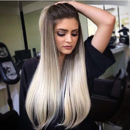 Blonde Pale Ombre Highlights Dark