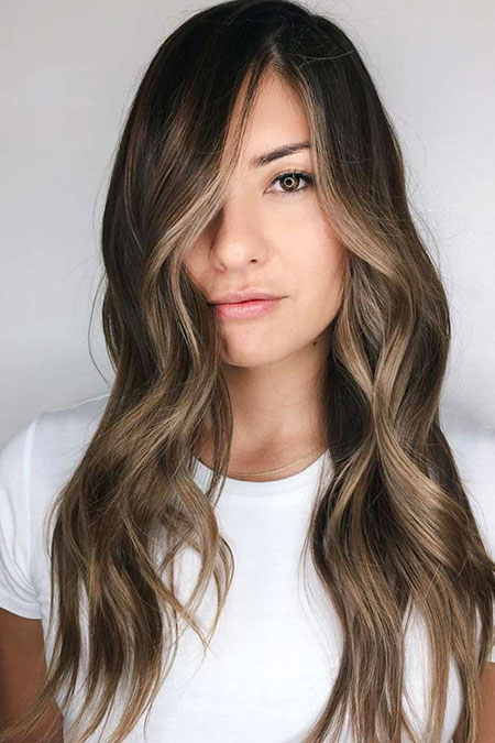 Ombre Bangs Tips Long Locks Layered Highlights Biel Balayage All
