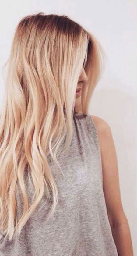 Blonde Gold Rose Pink Waves Long Colors Buttery