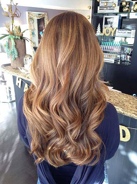 Blonde Brown Balayage Summer Ombre Long Highlights