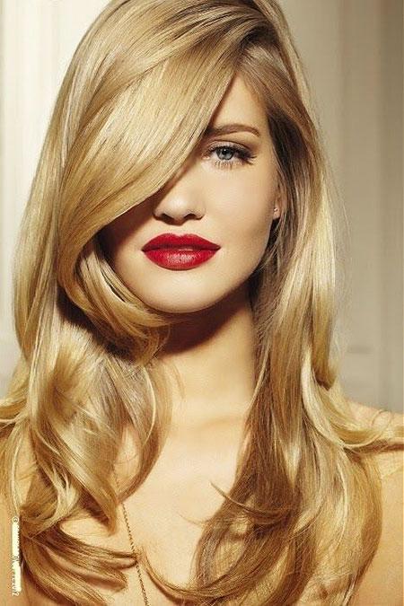 Blonde Lips Golden Red Wedding Trendy Summer Short