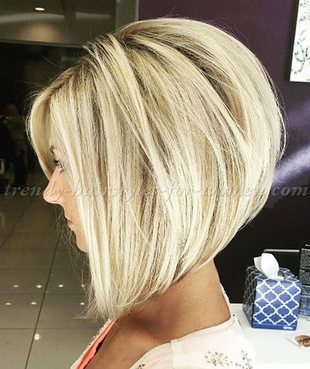 Blonde Bob Hairstyles, Short Hairstyles, Blonde Hairstyles, Layered, 2017, Wavy