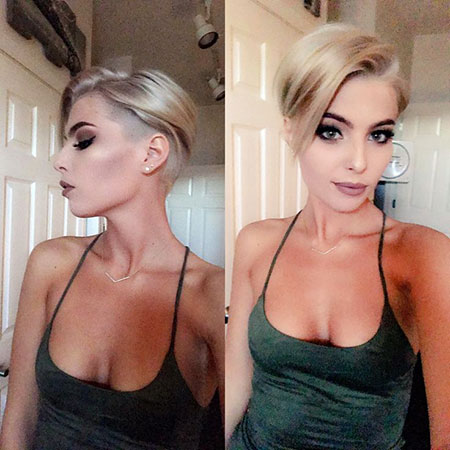Short Hairstyles, Pixie Cut, Blonde Hairstyles, Undercut, Rose, Pretty