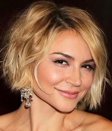 Short Hairstyles, Blonde Bob Hairstyles, Layered, Medium