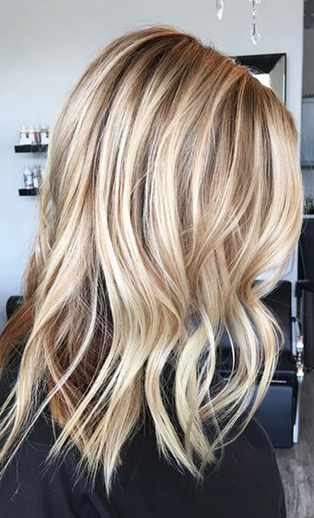 Blonde, Highlights, Balayage, Young, Frisyrer, Colors