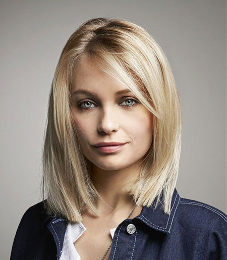 Medium, Short, Bob, Blonde, Women, Semi, Length, Lawrence