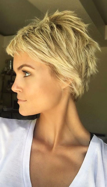 Short Hairstyles, Pixie Cut, Women, Tones, Shades, Light, Haircut, Dark