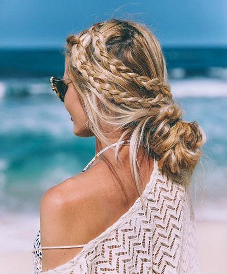 Easy Beach Wedding Hairstyles: Short, Medium, Long Blonde