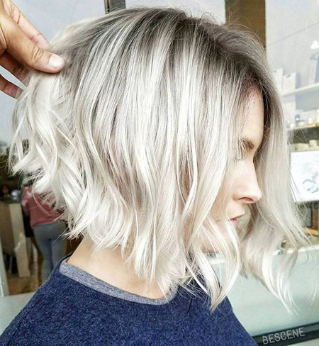 Blonde Hairstyles, Short Hairstyles, Balayage, Wavy, Thin