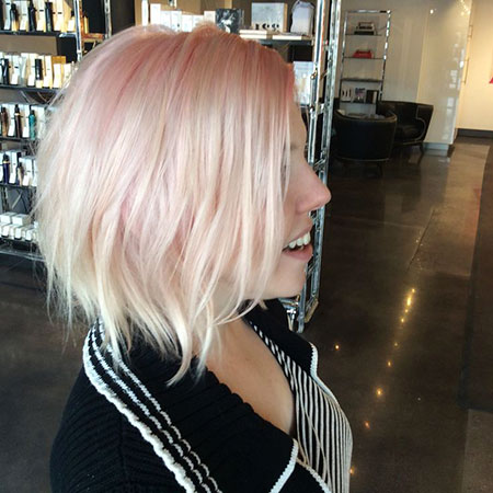 Blonde Hairstyles, Platinum, Pink, Pastel, Trends, One, Mid, Length