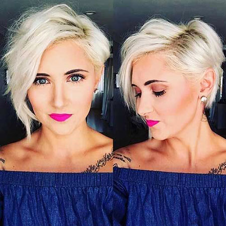 Pixie Cut, Short Hairstyles, Long, Length, Chin, Blonde Hairstyles