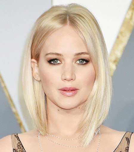 Blonde Bob Hairstyles, Thin, Jennifer Lawrence, Jennifer, Undercut