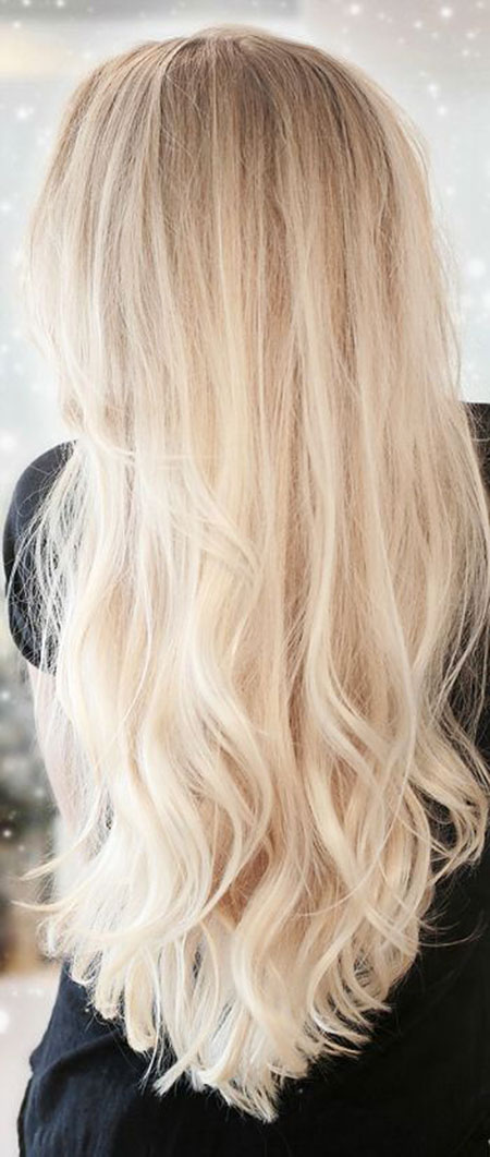 Blonde Long Highlights Balayage
