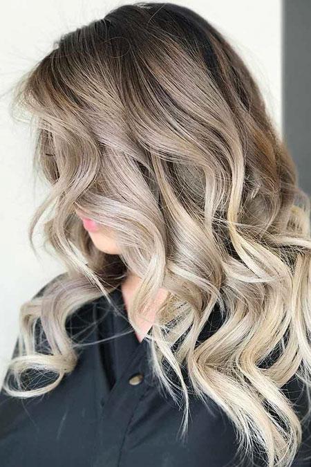 Blonde Balayage Ash Season Ombre Colors