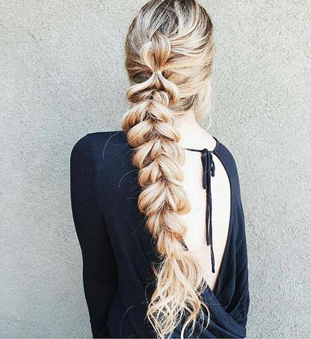 Fishtail Braids Braid Long Dutch Brunette Blonde