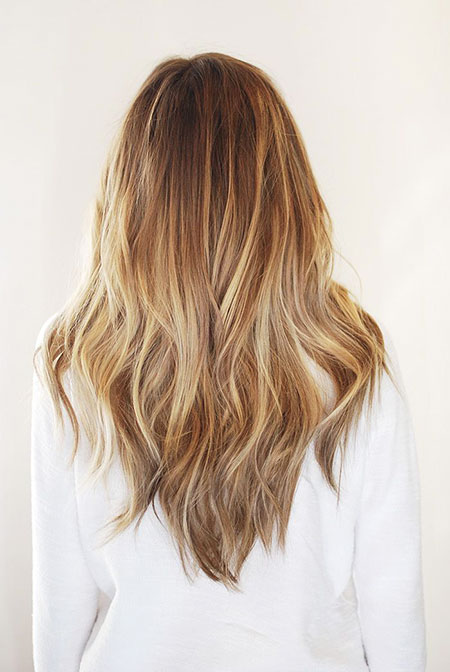 Ombre Blonde Long Layers Balayage Really