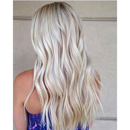 Blonde, Long, İcy, Balayage, Highlights, Curls