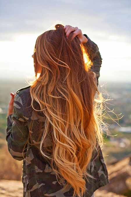 Ombre, Blonde, Balayage, Strawberry, Red, Long