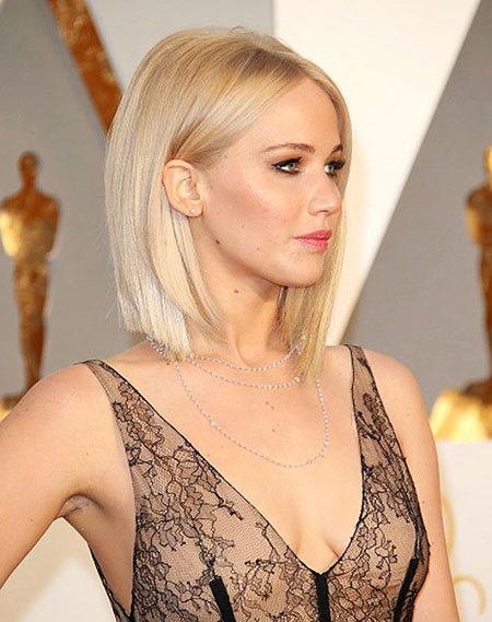 Blonde Bob Hairstyles, Jennifer Lawrence, Jennifer, Blunt, Type, Texture