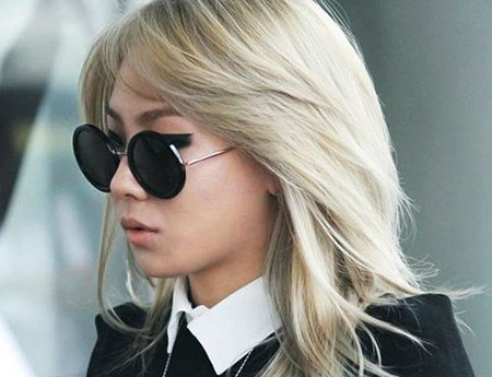 Cl, Blonde Bob Hairstyles, Sunglasses, Part, Middle, Long, Layered, Celebrities