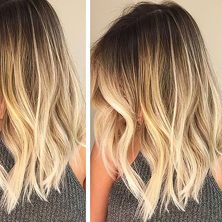 Blonde Hairstyles, Balayage, 2017, Women, Ombre, Medium, Butter
