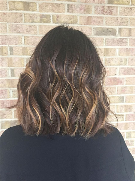 Short Hairstyles, Brown, Balayage, Highlights, Women