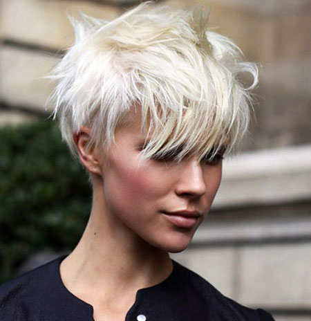 Short Hairstyles, Pixie Cut, Blonde Hairstyles, Platinum