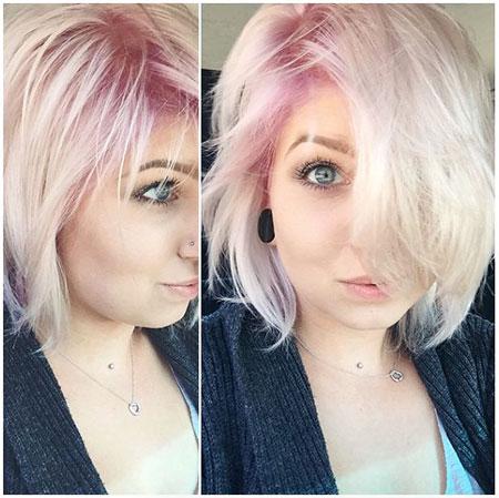 Blonde Hairstyles, Short Hairstyles, Pink, Wavy, Texture