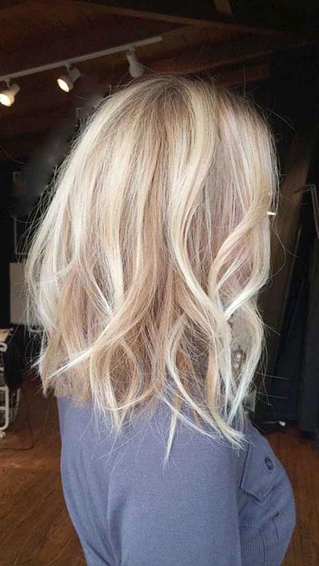 Blonde Hairstyles, Balayage, Platinum, Ombre, Medium, Long, Length
