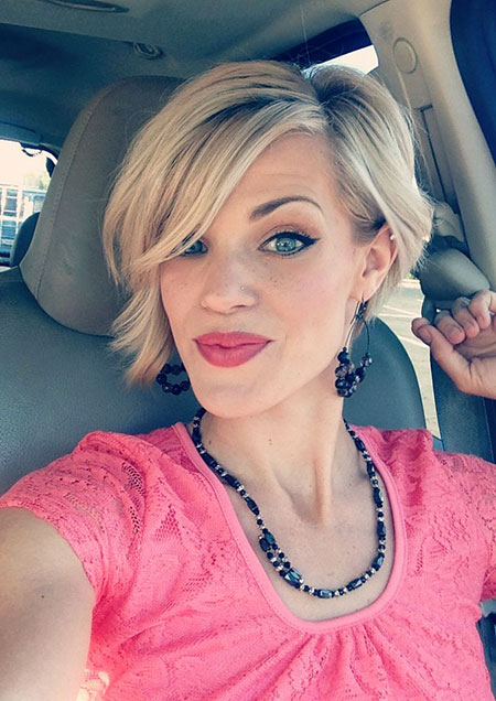 Short Hairstyles, Blonde Bob Hairstyles, Stacked, Pixie Cut