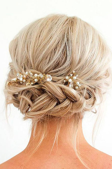 Wedding, Updo, Short Hairstyles, Bridal, Women, Updos, Older