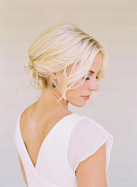 Wedding, Short Hairstyles, Bridal, Updos, Updo