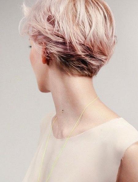 Short Hairstyles, Pixie Cut, Women, Trendy, Pastel, Part