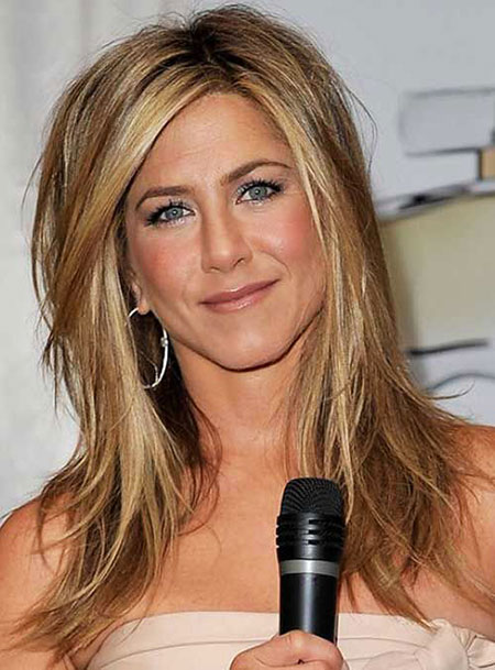 Over, Medium, Long, Length, Aniston, Women