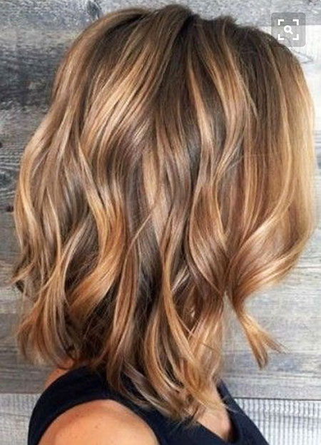 Balayage, Highlights, Brunette, Summer, Short, Rose, Light