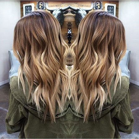 Blonde, Balayage, Wavy, Vibrant, Trendy, Shades, Pretty, Ombre, Long