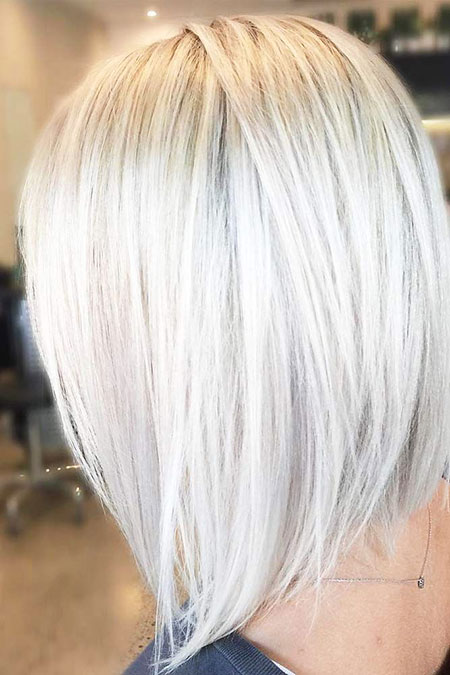 Blonde, Platinum, Bob, Silver, Shades, Shade, Highlights, Haare, Graue, Colors