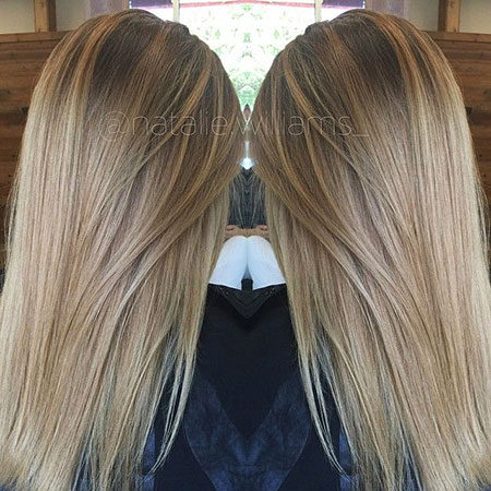 Blonde, Highlights, Light, Dark, Brown, Balayage, Ombre