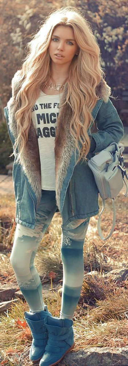 Blonde Waves Long Thick Light Head Golden Full Fashion