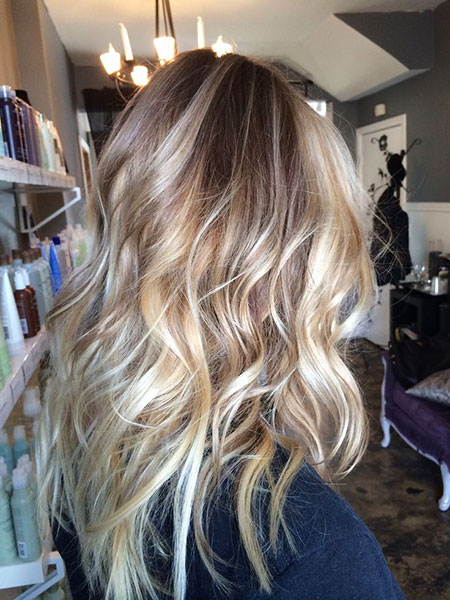 Blonde Balayage Waves Ombre Natural Ash Wild Summer