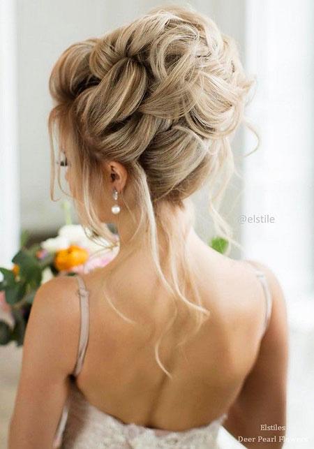 Wedding, Waterfall, Updo, Simple, Long, Bridal, Braided, Braid