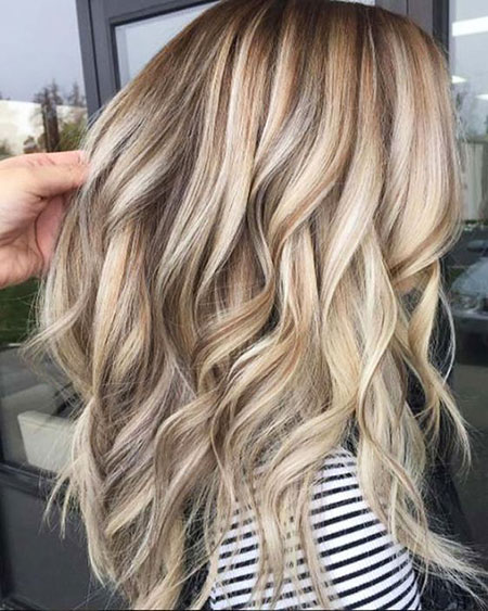 Blonde Balayage Ash Lowlights Long Layers