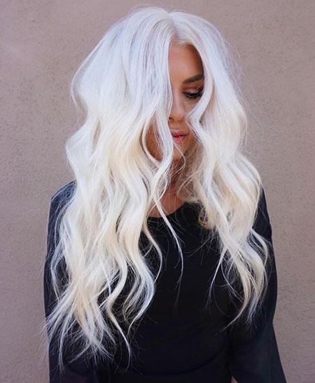 Blonde Platinum Long Beach White Layered Icy Black