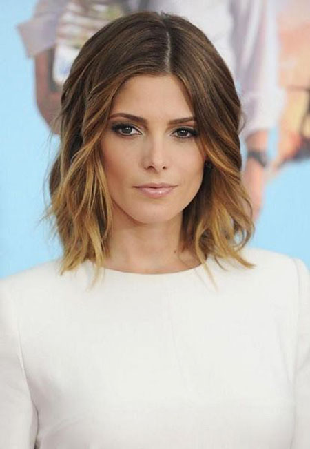 Medium, Length, Shoulder, Short, Sandra, Ombre, Messy, Long