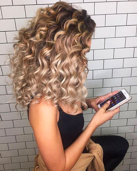 Blonde Curly Curls Wedding Wavy Waves Soft Long
