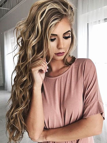 Blonde Dirty Women Sexy Ombre Long French Curls Colors