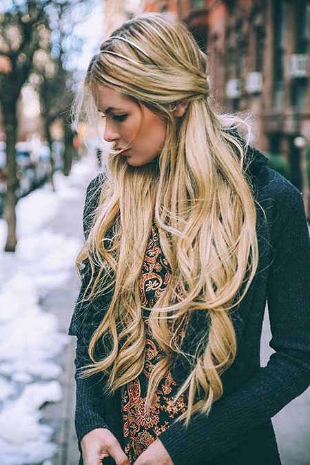 Very Long Female Braided Blonde