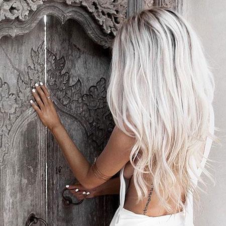Blonde Light White Shade Platinum Fringe Colour Bold Ash