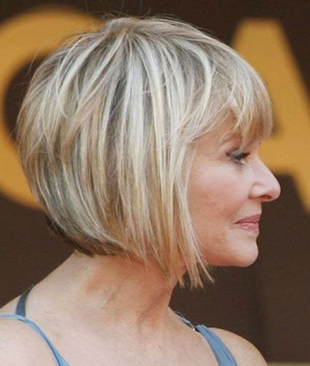 Blonde Bob Hairstyles, Women, Short Hairstyles, Older